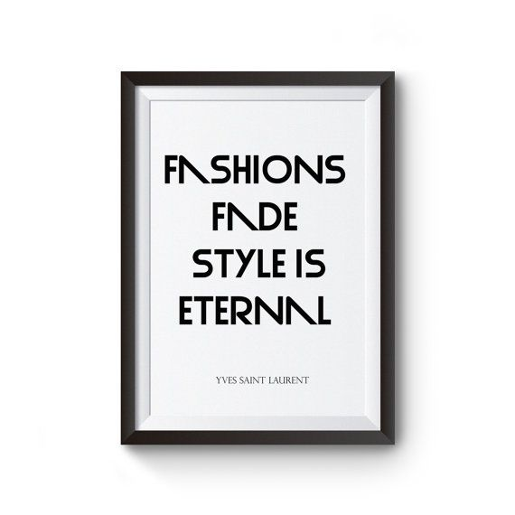 instant download print fashion quoteprintable by iheartwordart
