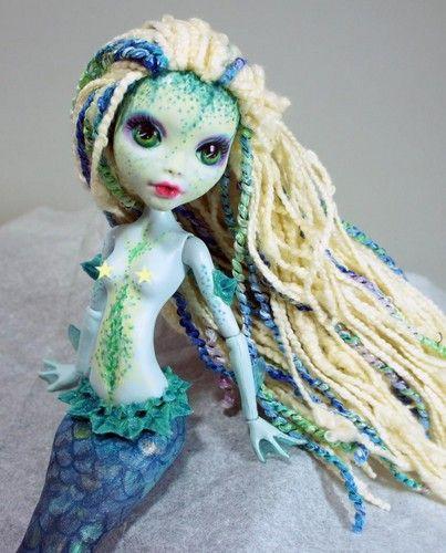 My Lagoona repaint & mermaid sculpt. www.dolliciouscustoms.com
