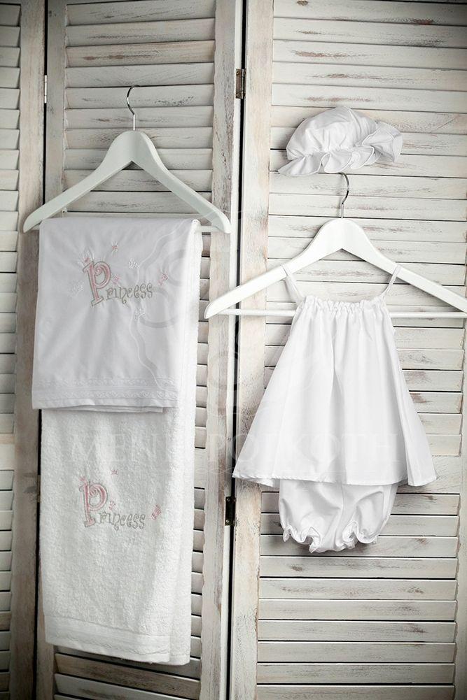"""Embroidery """"Princess"""" Christening lathopana"""