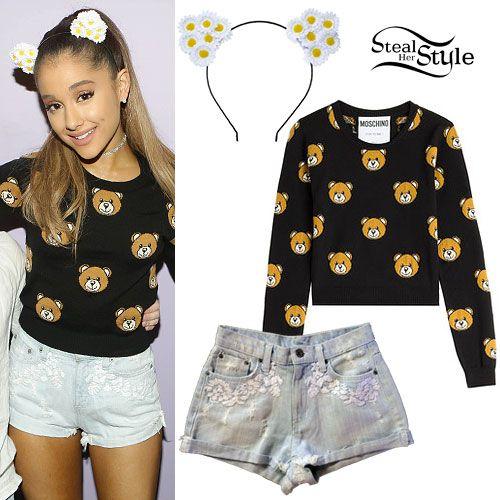 Ariana Grande: Bear Print Sweater