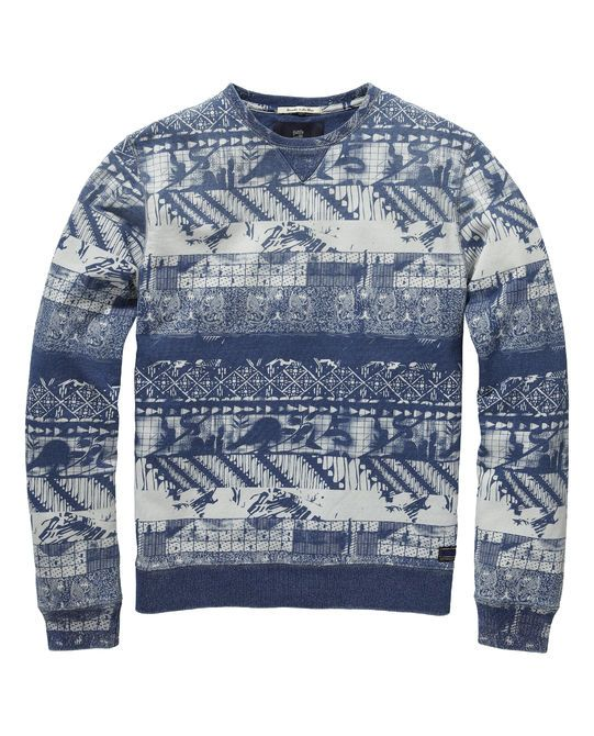 All-over printed sweater | Sweat | Men's Clothing at Scotch & Soda