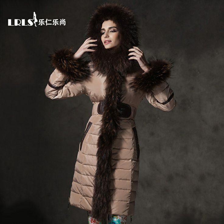 royalcat2013 new raccoon fur collar down jacket women slim solid color Slim new winter essential $399.00