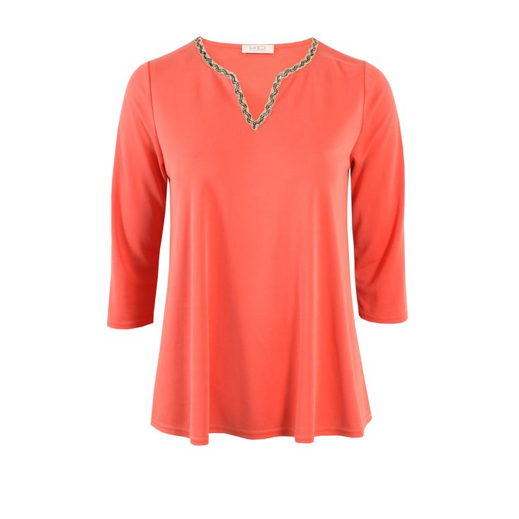 Bady Tunika Coralle von KD Klaus Dilkrath #kd #dilkrath #kd12 #outfit #coralle #tunic #tunika #shirt #blouse #chic #office #spring #summer #orange