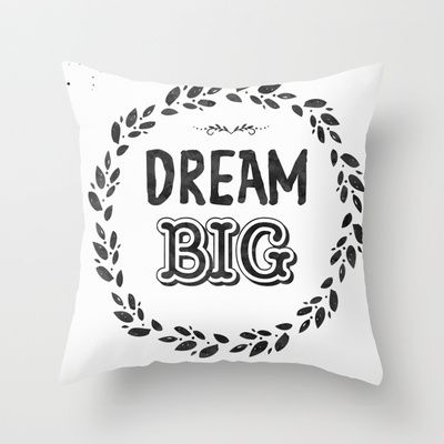 "HROW PILLOW	/ INDOOR COVER (16"" X 16"")  Arista type (lunarsoda) Dream Big Midnight night color by Arista Type"