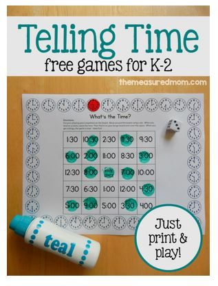 OT Activities of the Week: Free Telling Time Games-pinned by @PediaStaff – Please Visit  ht.ly/63sNt for all our pediatric therapy pins