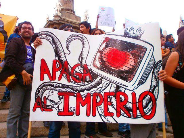 El plan de acción del movimiento #YoSoy132.    apaga al imperio !!