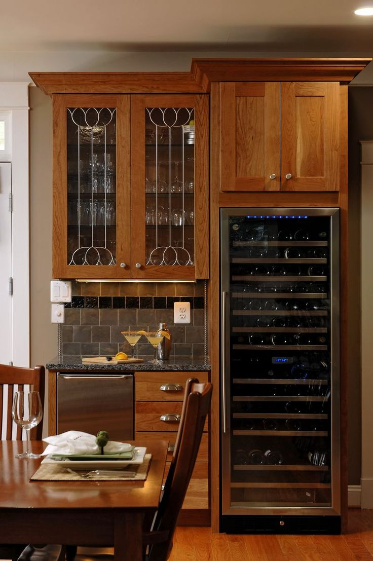 Built in wine fridge home pinterest wine fridge wet - Built in wet bar ideas ...