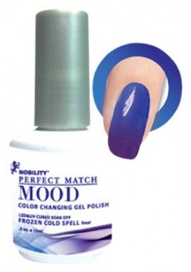 LeChat Mood Color Changing Soak Off Gel Polish - Frozen Cold Spell - MPMG06 - interesting.