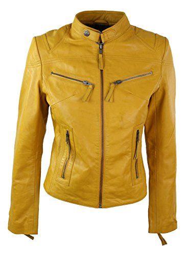 Veste biker jaune