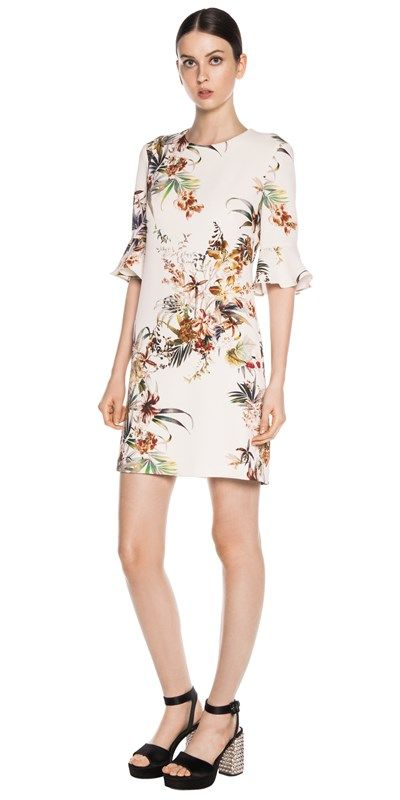 Dresses | Tropical Crepe Dress