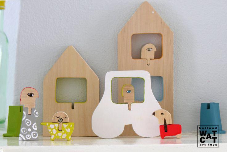 HURBANYA city wooden set toy.