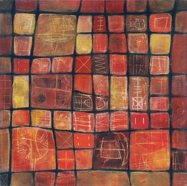 Textile series 2 de 4 mixed media on canvas  50 x 50 cm 2008