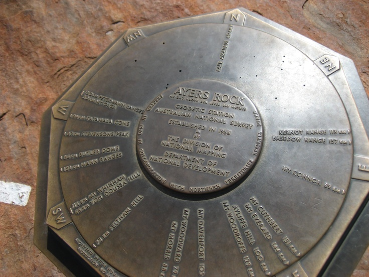 This is the marker on top of Ayers Rock as at May 2009.