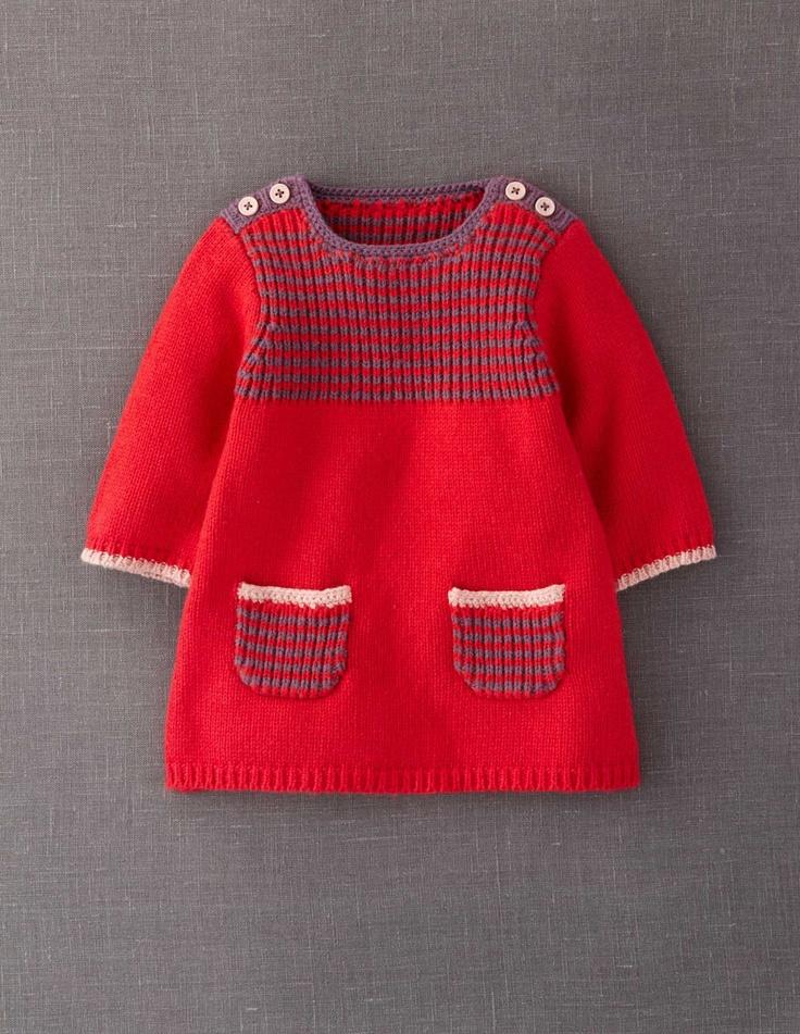 Stripy Knitted Dress, knit