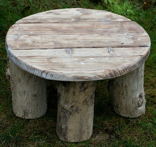 Driftwood Coffee Table, Drift Wood Side Table, Low Round