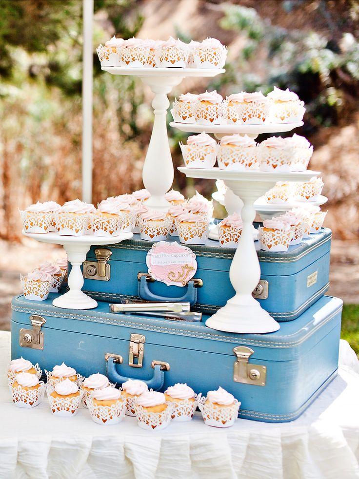 Lovely Sweet Vintage Wedding Dessert Bar