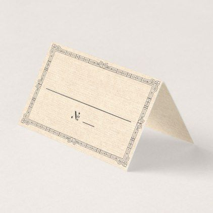 Elegant Art Deco Place / Escort Card - antique wedding gifts  special custom party