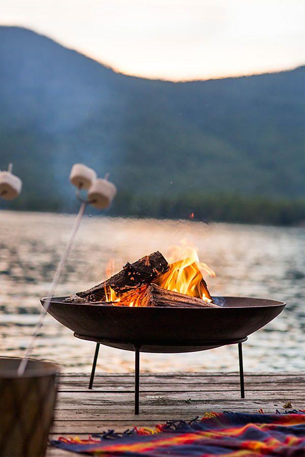 Slide View: 2: Cast Iron Dish Fire Pit