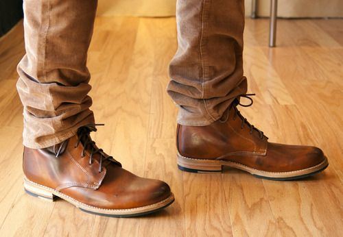 Mens Leather Fashion Boots - Yu Boots