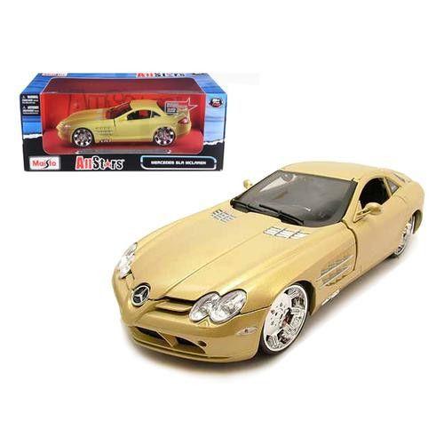 "Mercedes Mclaren SLR Gold ""All Stars"" 1/18 Diecast Model Car by Maisto"