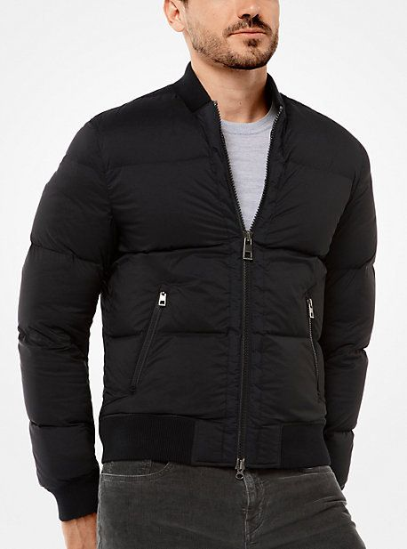 Michael Kors Quilted-Nylon Bomber Jacket
