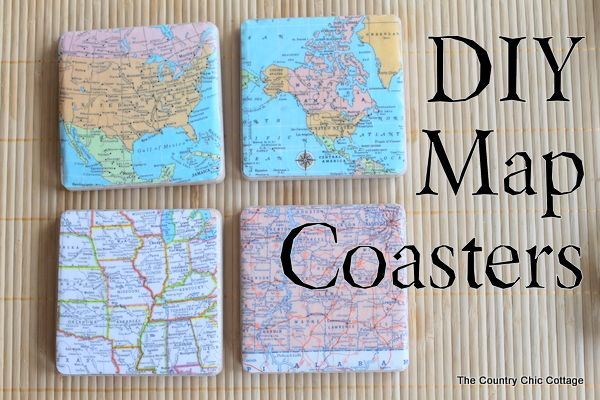 DIY Map Coasters for all the travel lovers.  #Travel #Holidayaccess