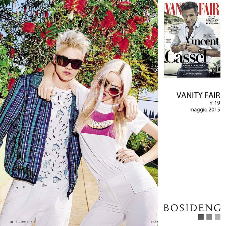 #Press // Model Lucky Blue Smith wears #BosidengItaly's k-way for a beautiful #editorial this month on Vanity Fair!