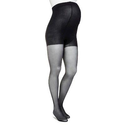 Plus-Size Maternity Tights - Merona - Black Sheer 1X, Women's