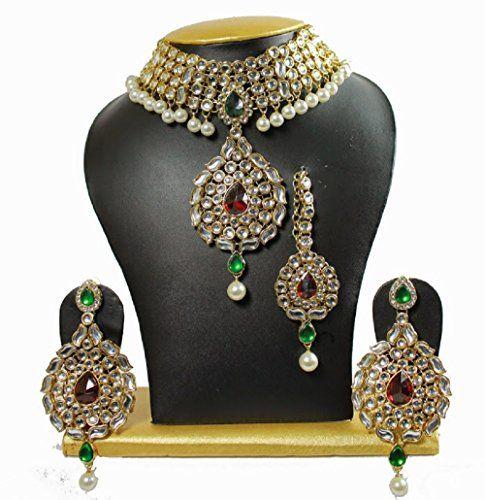ndian Bollywood Red & Green Stone Gold Wedding Wear JeweI... https://www.amazon.com/dp/B01NCZ9ZYL/ref=cm_sw_r_pi_dp_x_XfYHybM6WMJSQ