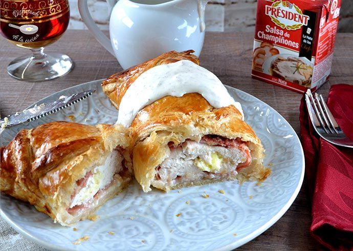 Deliciosa receta de pollo a la Wellington del blog Disfrutando de la Cocina.