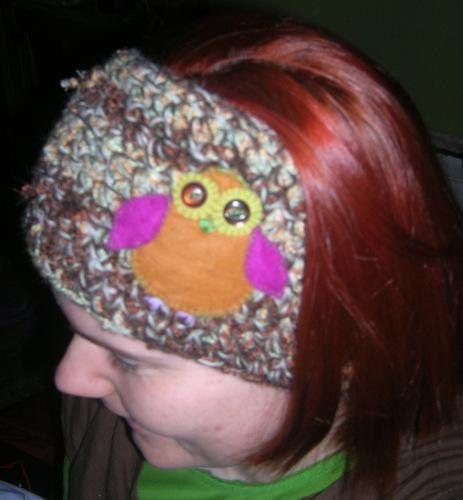 CROCHET OWL HEADBAND Felt Woodland Felted Dread by tinkertailoruk, $28.00