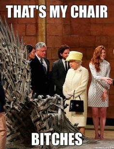 The Queen was visiting the Game of Thrones crew the other day...
