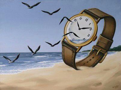 Dit schilderij is typisch voor het surrealisme. Het is niet echt (onwerkelijk) wat er gebeurt. Dit zie je aan het hele grote horloge. Een horloge is normaal nooit zo groot. Er vliegen normaal nooit vogels uit een horloge. Hierbij wordt een les mee gegeven. Deze les bij dit schilderij is, is dat de tijd vliegt. Dit is kenmerkend voor het surrealisme.