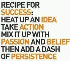 Recipe for success #Inspirational #BusinessQuotes #orangeville