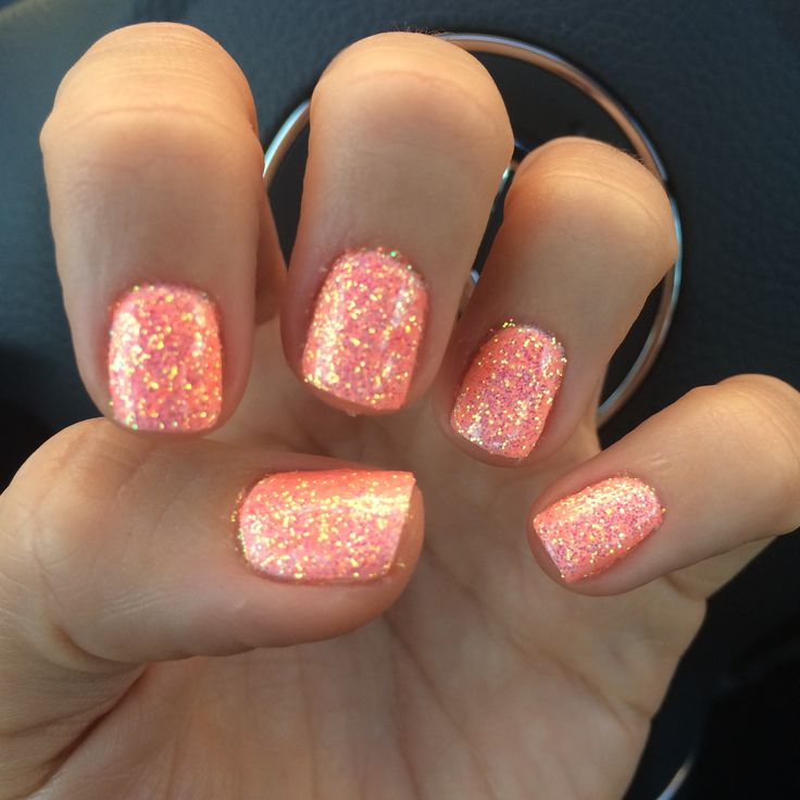 Coral spring time nails