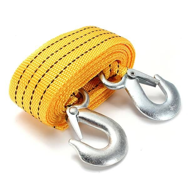 3T 2.8M Tow Towing Pull Rope 2 Heavy Duty Forged Steel Hooks  Worldwide delivery. Original best quality product for 70% of it's real price. Buying this product is extra profitable, because we have good production source. 1 day products dispatch from warehouse. Fast & reliable shipment...