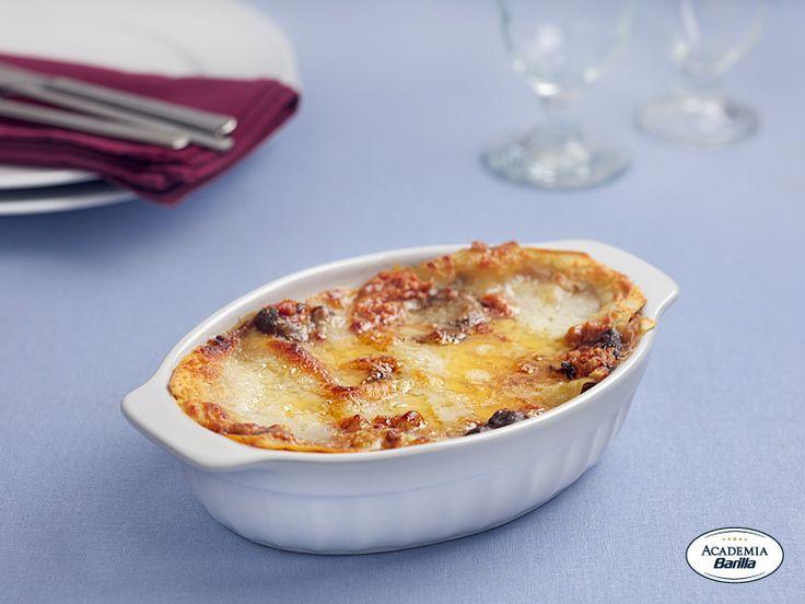 Recipe Lasagna with Prosciutto and Mushrooms - Barilla