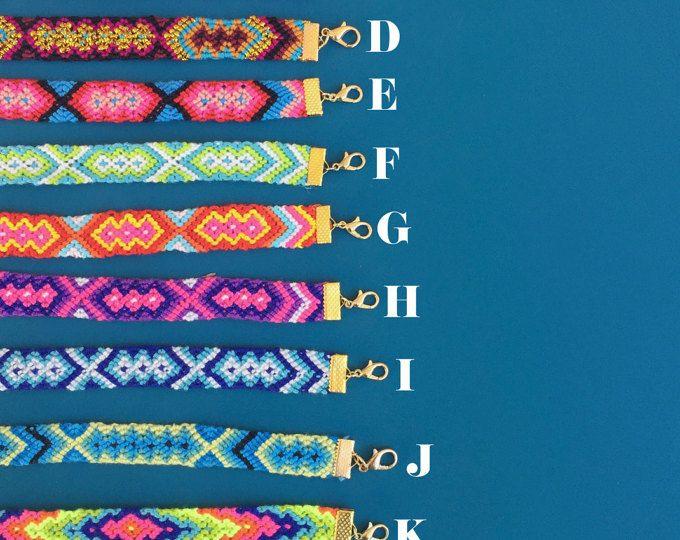 bracelet d'amitié, tressé, wrap, cadeau de l'été tissé à la main, bijoux de l'amitié, cadeau aztèque, native, le meilleur ami (e)