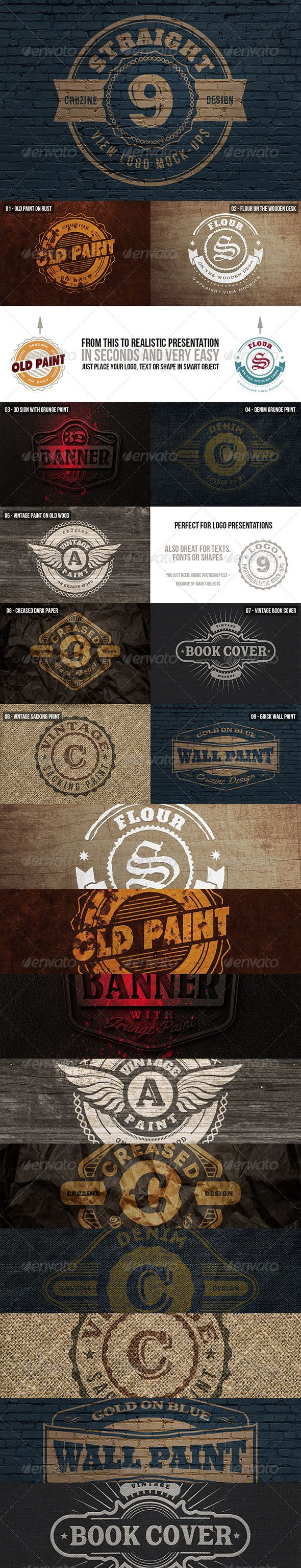 Straight View Logo Mock-ups - http://graphicriver.net/item/straight-view-logo-mockups/5984081?ref=cruzine