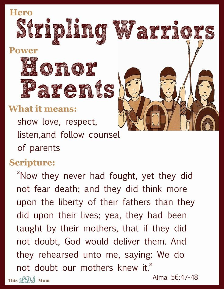 This LDS Mom: Scripture Heroes: Stripling Warriors - more heroes on the website