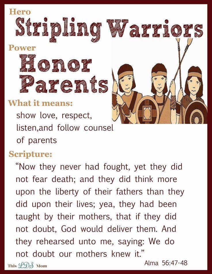 This LDS Mom: Scripture Heroes: Stripling Warriors - more heroes on the website