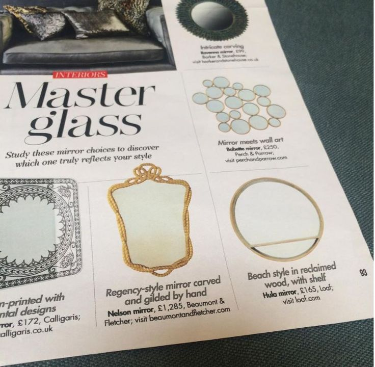 'Master Glass' - Our lovely Nelson mirror featuring in Hello Magazine Interiors. An unusual Regency style mirror of attractive proportions with a frame representative of carved rope. Decorative nautical themes such as ropes and anchors were much sought after in 18th century Britain, celebrating it's maritime power.