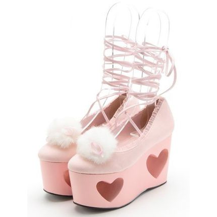 Girly Girl Boutique Wedges on Girly Girl の To Alice.Harajuku Fancy Hearts Cutout Wedges Bandage Platform Shoes Gg395 catches up with the Girly Girl style.Get yourself ready to look fashion.Don't miss it.