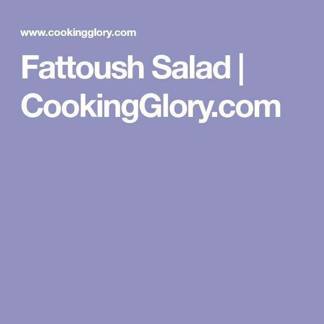 Fattoush Salad | CookingGlory.com