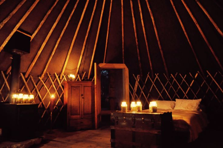 Get away from it all in this pet-friendly yurt rental in Ontario, hidden away near the northern entrance to Algonquin Provincial Park in Canada. Explore the 600 acres of forested property surrounding this site while yurt glamping in Ontario, taking breaks to grab the provided canoe and paddle up and down the private river. When weather permits, there's even a beach to go swimming at and relax on while luxury camping in this yurt in Ontario.