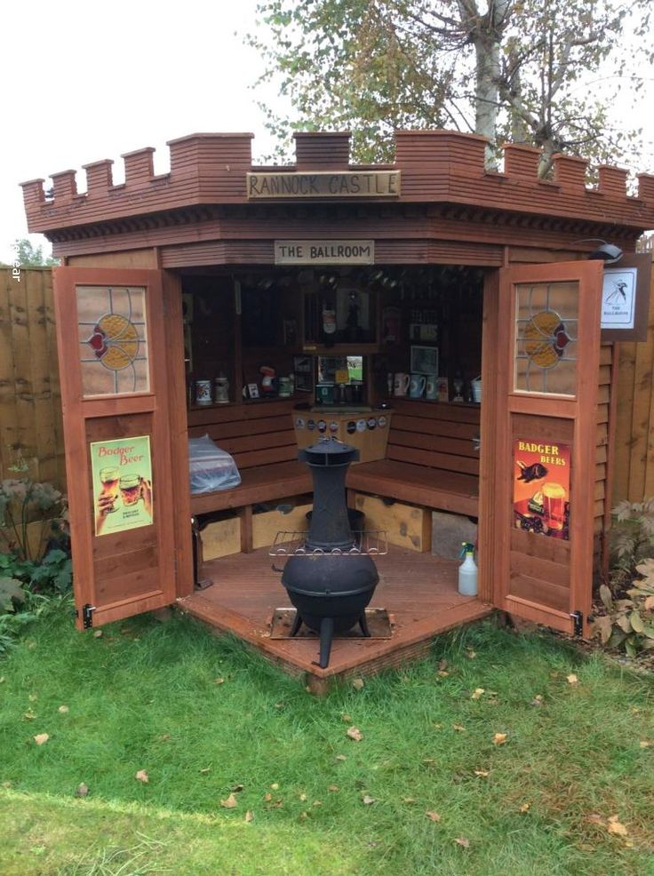 Castle shed. You can be the King or Queen of your garden