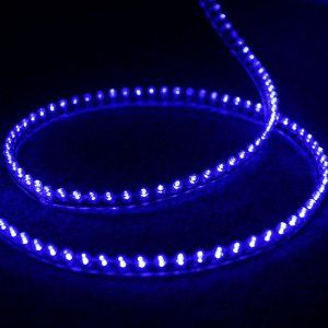 """120 LEDs Light Strip BLUE 12V 120cm(47.2"""") Flexible Waterproof PVC for Car/ Aquarium/ House Decoration by TOMTOP. $7.98. This super bright LED strip light is waterproof, can be used inside or outside of cars. Ideal for car/aquarium/house decoration, and so on. Please note that if use for aquarium/house decoration, a plug end is needed to attach them.  Specification: Input voltage: DC12V Material?PVC  Number of LEDs: 120  Bulbs Color: Blue Wire length: 38cm/15in Strip len..."""