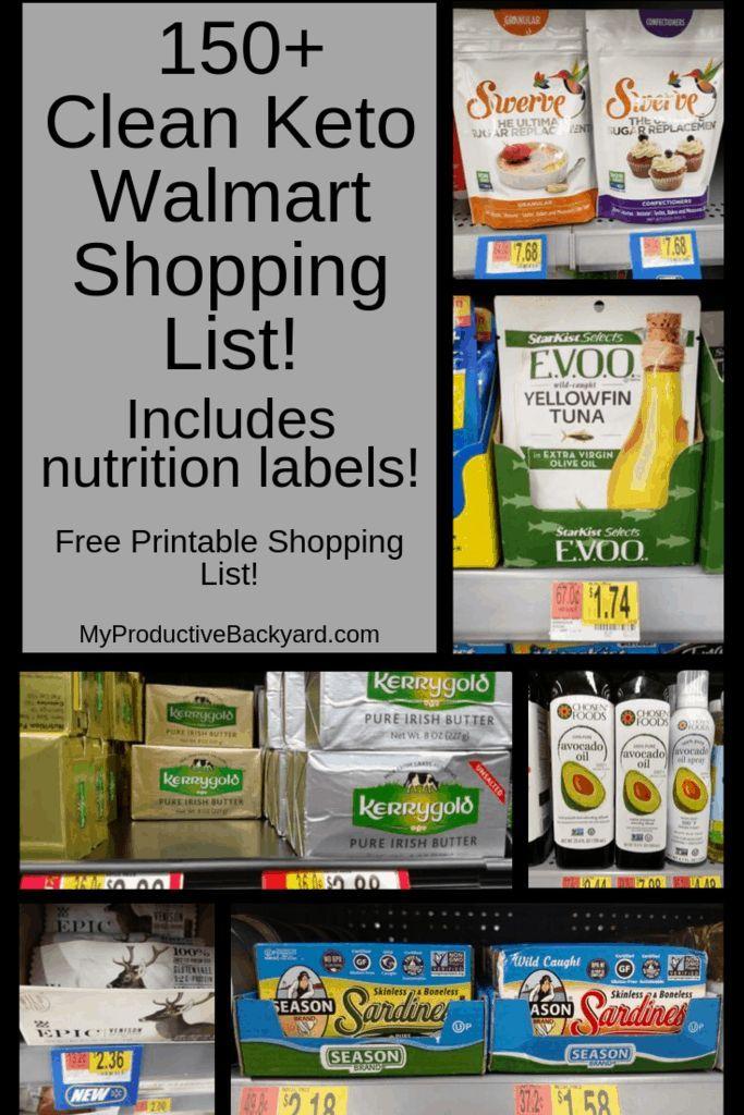 150 Clean Keto Walmart Shopping List Walmart Shopping List Keto Shopping List Keto Diet Food List