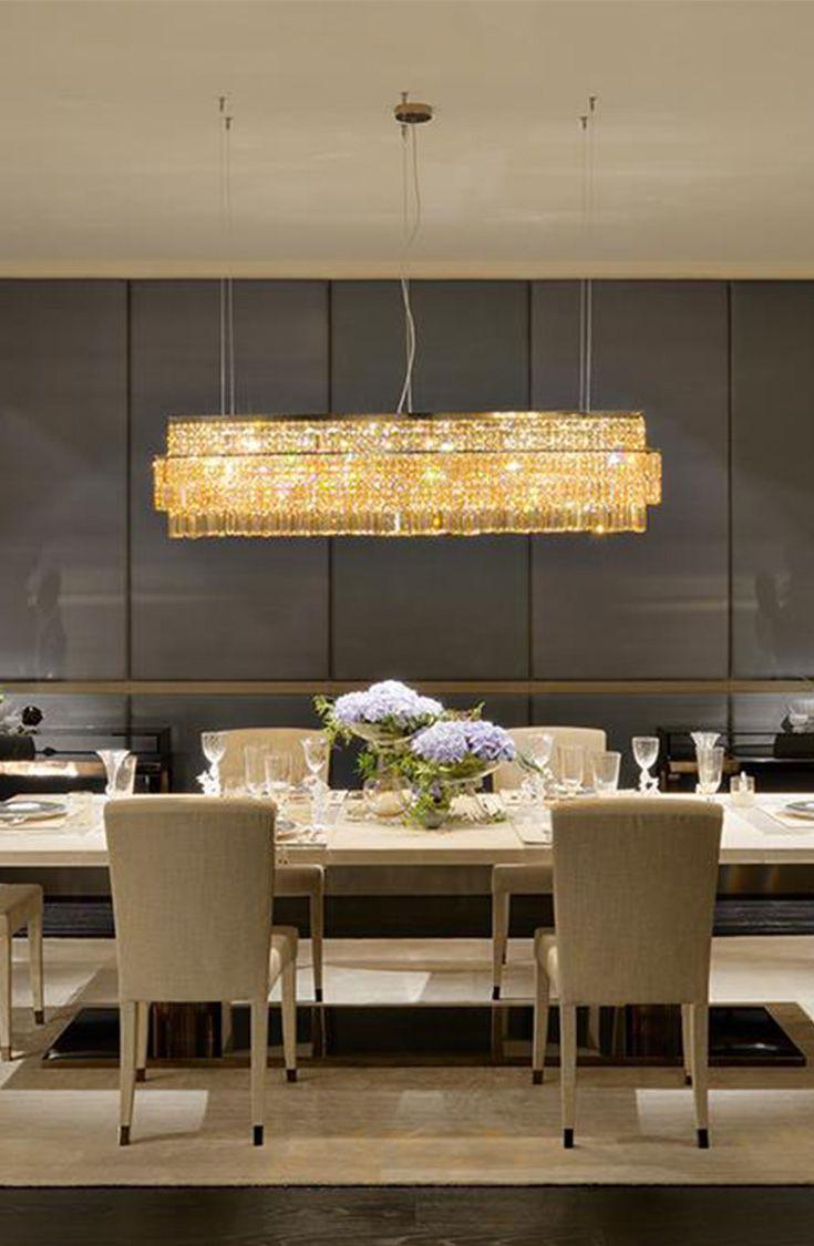 Fendi Casa warm living room design with Crystal Baguette lighting in bronze shadow metal Luxury Living Group