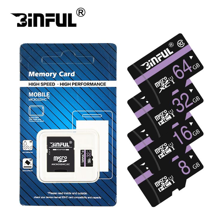 Binful Memory Card Class10 32GB 64GB 16GB micro sd card 8GB 4GB UHS-1 Memory flash card for Smartphone/Tablet freeship //Price: $5.38//     #shop